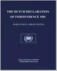 The Dutch Declaration of Independence by