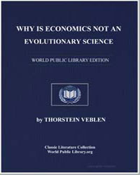 Why Is Economics Not an Evolutionary Sci... by Veblen, Thorstein