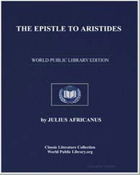 The Epistle to Aristides by Africanus, Julius