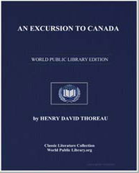 An Excursion to Canada by Thoreau, Henry David