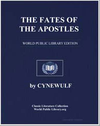 The Fates of the Apostles by Cynewulf