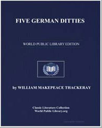 Five German Ditties by Thackeray, William Makepeace