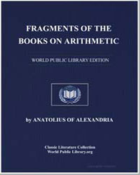 Fragments of the Books on Arithmetic by Anatolius of Alexandria