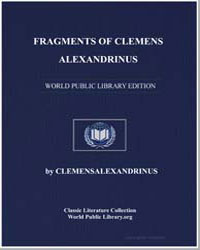 Fragments of Clemens Alexandrinus by Alexandrinus, Clemens