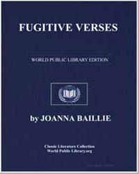 Fugitive Verses by Baillie, Joanna