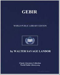 Gebir by Landor, Walter Savage