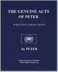 The Genuine Acts of Peter by Bishop of Alexandria Peter