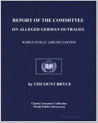 Report of the Committee on Alleged Germa... by Bryce, Viscount