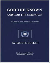 God the Known and God the Unknown by Butler, Samuel