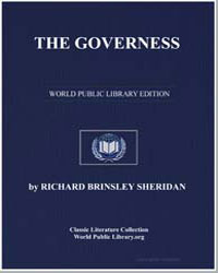 The Governess by Sheridan, Richard Brinsley