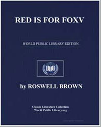 Red Is for Fox by Brown, Roswell
