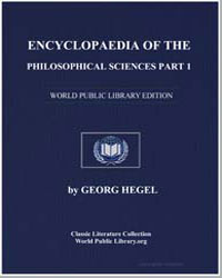 Encyclopedia of the Philosophical Scienc... by Hegel, Georg