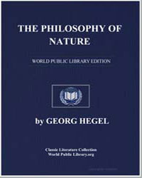 The Philosophy of Nature by Hegel, Georg