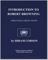 Introduction to Robert Browning by Corson, Hiram