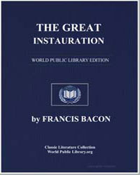 The Great Instauration by Bacon, Francis, Sir