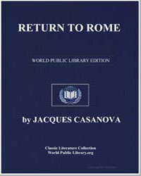 Return to Rome by Casanova, Jacques