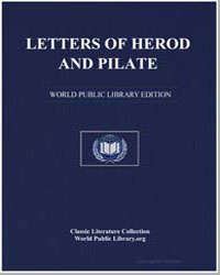 Letters of Herod and Pilate by Anonymous