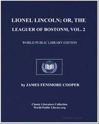 Lionel Lincoln; Or, The Leaguer of Bosto... by Cooper, James Fenimore