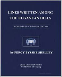 Lines Written Among the Euganean Hills by Shelley, Percy Byssche