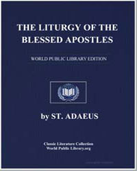 The Liturgy of the Blessed Apostles by St. Adaeus