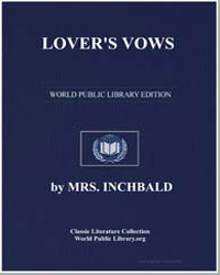 Lover's Vows by Inchbald, Elizabeth