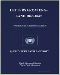 Letters from England 1846-1849 by Bancroft, Elizabeth Davis