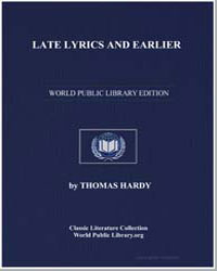 Late Lyrics and Earlier by Hardy, Thomas