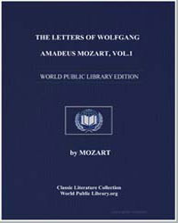 The Letters of Wolfgang Amadeus Mozart (... by Mozart, Wolfgang Amadeus