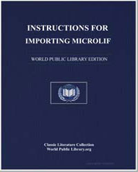 Instructions for Importing Microlif and ... by Colt, Oliver C.
