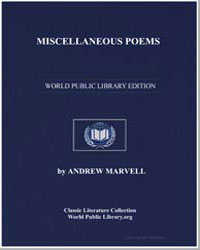 Miscellaneous Poems by Marvell, Andrew