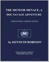 A Doc Savage Adventure : The Meteor Mena... by Robeson, Kenneth