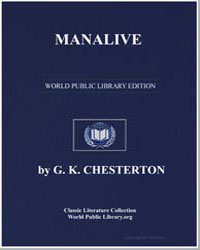 Manalive by Chesterton, Gilbert K.