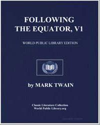 Following the Equator Vol. 1 by Twain, Mark