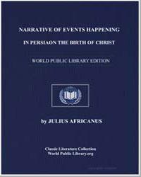 Narrative of Events Happening in Persia ... by Africanus, Julius