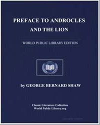 Preface to Androcles and the Lion by Shaw, George Bernard