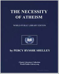 The Necessity of Atheism by Shelley, Percy Byssche