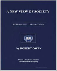 A New View of Society by Owen, Robert