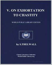 Exhortation to Chastity by Tertullian