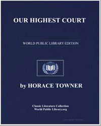 Our Highest Court by Towner, Horace
