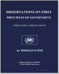 Dissertations on First Principles of Gov... by Paine, Thomas