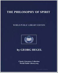 The Philosophy of Spirit by Hegel, Georg