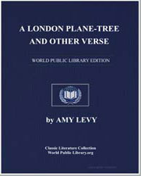 A London Plane-Tree and Other Verse by Levy, Amy