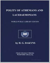 Polity of Athenians and Lacedaemonians by Xenophon, of Athens