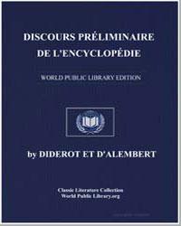 Discours Preliminaire de L'Encyclopedie by Dalembert, Diderot Et