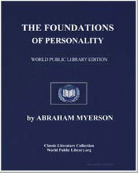 The Foundations of Personality by Myerson, Abraham
