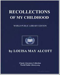 Recollections of My Childhood by Alcott, Louisa May