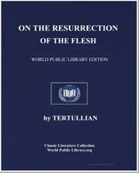 On the Resurrection of the Flesh by Tertullian