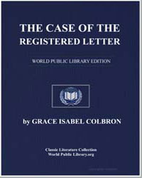 The Case of the Registered Letter by Colbron, Grace Isabel