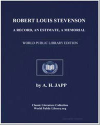 Robert Louis Stevenson, A Record, An Est... by Japp, A. H.