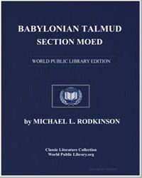 Babylonian Talmud : Section Moed by Rodkinson, Michael Levi